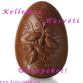 húsvéti csokitojás képeslap