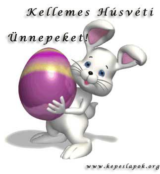 húsvéti nyúl kepeslap