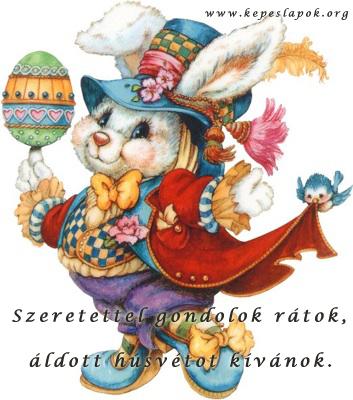 húsvéti nyuszi képeslap