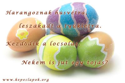 húsvéti tojások képeslap
