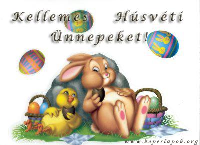kellemes húsvéti ünnepeket képeslap