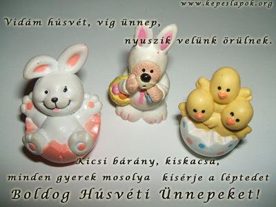 vidám húsvétot képeslap