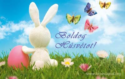 boldog húsvétot képeslap
