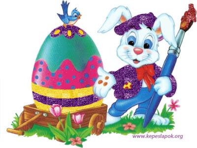húsvéti nyúl képeslapok