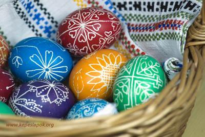 hímes tojás képeslapok