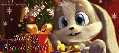 boldog karácsonyt nyuszi