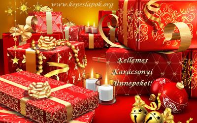 kellemes karácsonyi ünnepeket ajándékok képeslapok