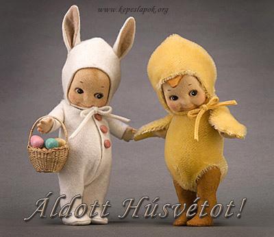 áldott húsvétot képeslap