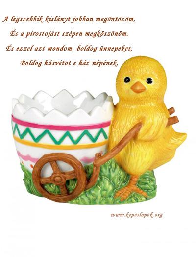 húsvéti csibe képeslap