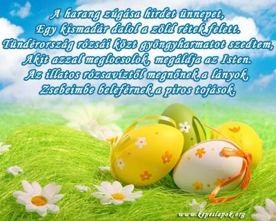 húsvéti vers képeslap